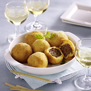 Potato and Beef Croquettes.