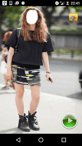 Women Skirt Selfie