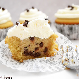 Chocolate Chip Cookie Dough Cupcakes