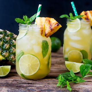 Pineapple Ginger Mojitos with Spiced Rum.
