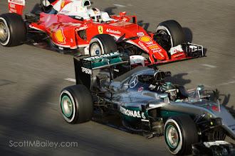 Photo: Nico Rosberg - AMG Mercedes F1 vs Seb Vettel - Scuderia Ferrari