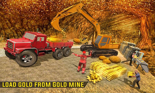 Gold Excavator Crane Driver 3D screenshot 1