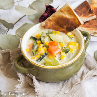 Creamy Corn Vegetable Soup.