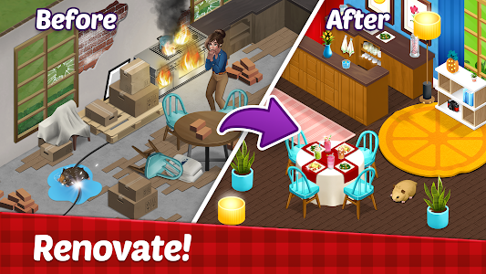 Fancy Cafe - Decorate your restaurant 1.7.1 (Mod Money/Stars)