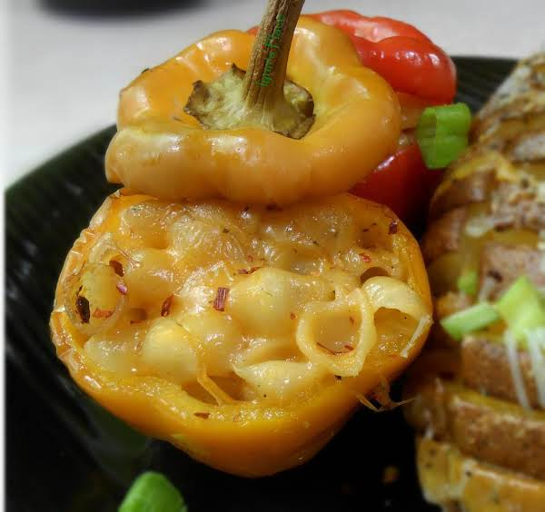 Stuffed Bell Peppers With Mac & Cheese Recipe