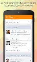 Screenshot of iVoox Podcast