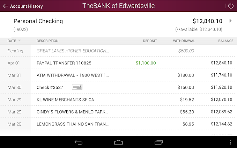 android The BANK of Edwardsville Screenshot 11