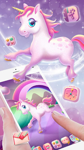 Pink Unicorn Launcher Theme Live HD Wallpapers ss3
