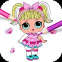 Cute Dolls lol Glitter Coloring Book 👗💖 icon