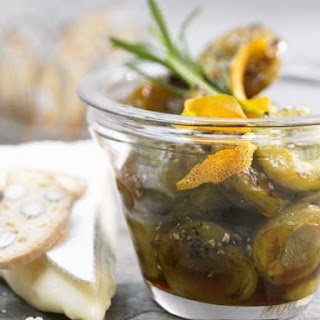 Spiced Greengages with Cheese