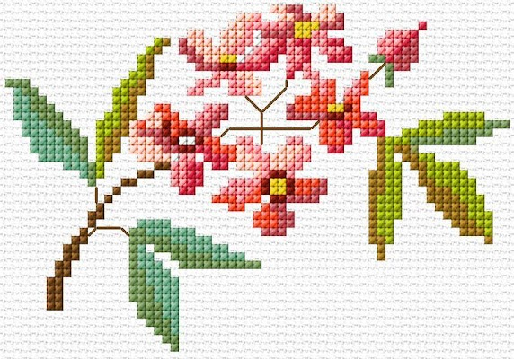 Cross Stitch Flowers - screenshot
