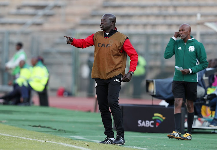 Kaitano Tembo, assistant coach of Supersport United during the 2017 CAF Confederations Cup match between Supersport United and CF Mounana at the Lucas Moripe Stadium, Atteridgeville South Africa on 08 July 2017.