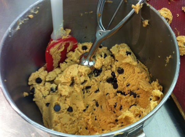 add chocolate chips and mix,