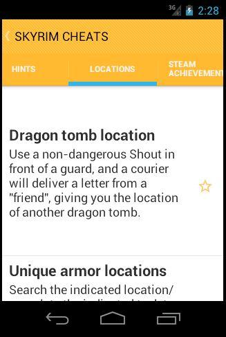 Cheats for skyrim android apps on google play