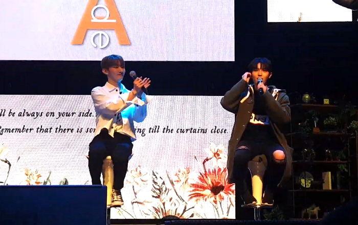 yoon jisung kim jaehwan fans cursing