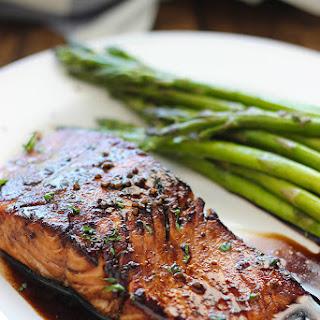 Balsamic Glazed Salmon.