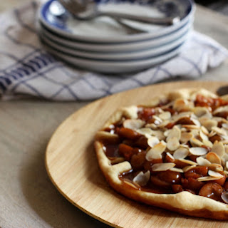Tarte aux Mirabelles with Almonds.