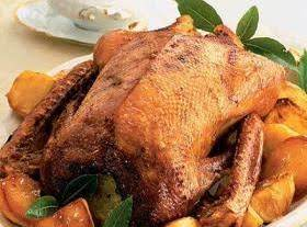 Roast Goose With Gravy And Stewed Apples Recipe
