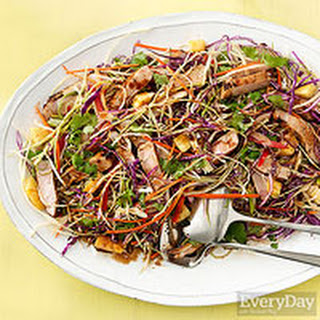 Asian Rainbow Salad with Seared Pork