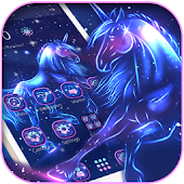 Magical Unicorn Launcher Night Spirit Theme
