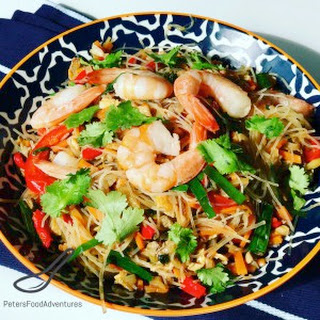 Funchoza Asian Noodle Salad.