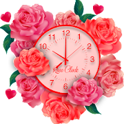 Rose Live Clock Wallpapers : Rose Backgrounds 2019