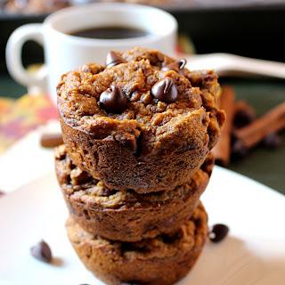 Vegan Chocolate Chip Pumpkin Muffins with No Added Sugar