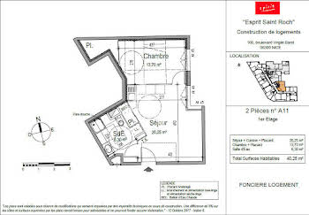 Appartement 2 pièces 40,25 m2