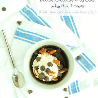 Double Chocolate Mug Cake in Less Than 1 Minute (Grain & gluten free, dairy free option).