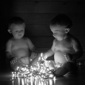 Helping with the lights by Mona Marie Hess - Babies & Children Babies ( babies, monahess, cute, toddler,  )