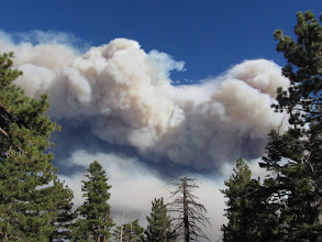 Photo: Smoke fills the southern sky