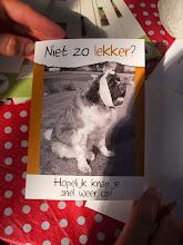Photo: Kaart voor Gerard Koekkoek. We wensen hem beterschap toe.