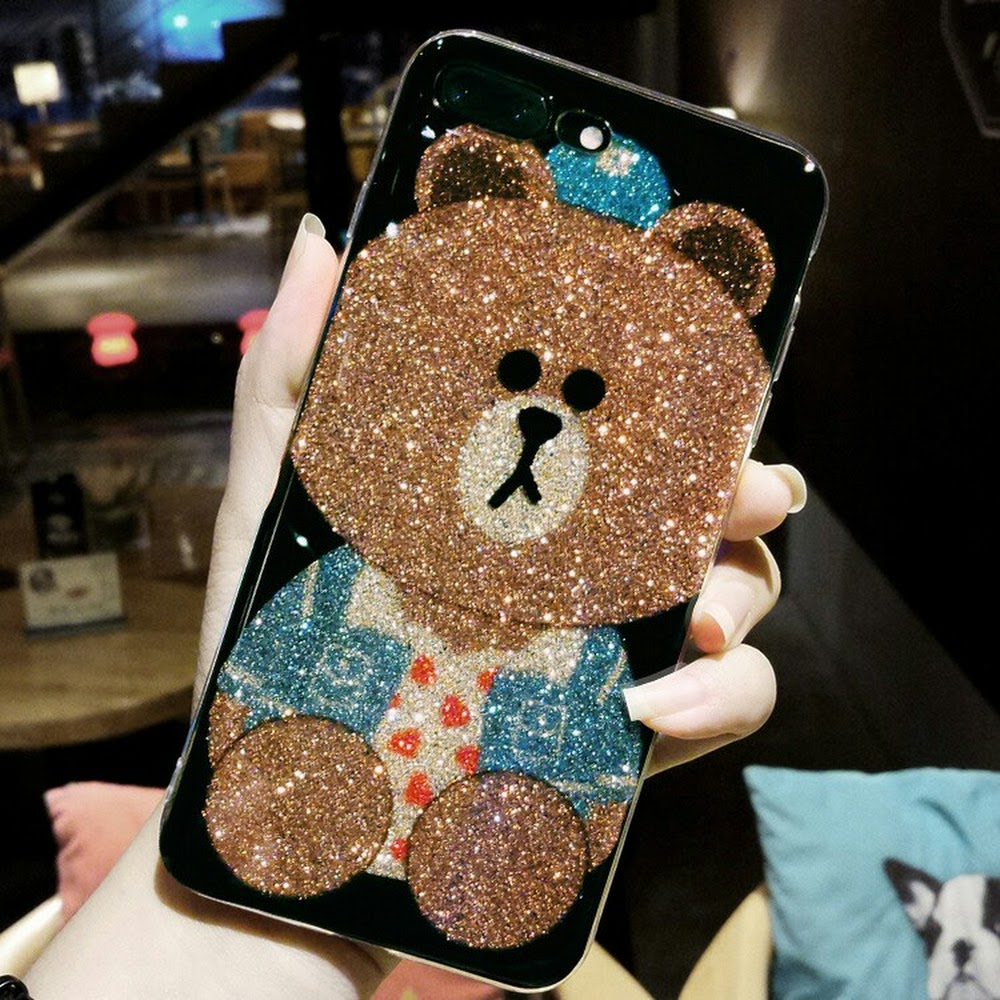 iphone case Glitter Embossed TPU