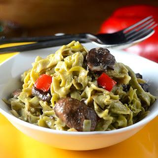 Mushroom Spinach Pasta Recipe