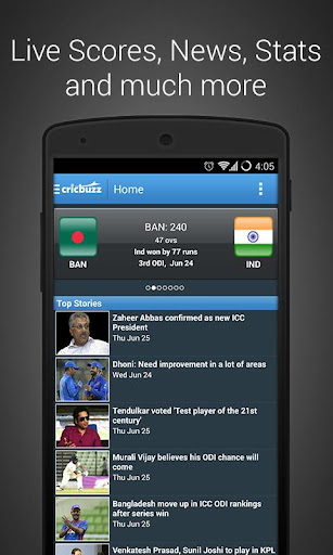 Cricbuzz Cricket Scores & News v4.1.6 (Mod AdFree)