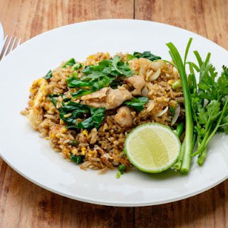 Lime Drizzled Pork Fried Rice