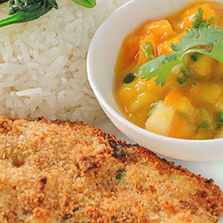 Scallion-Crusted Catfish With Mango Salsa