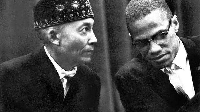 Malcolm X con el líder NOI, Elijah Muhammad.
