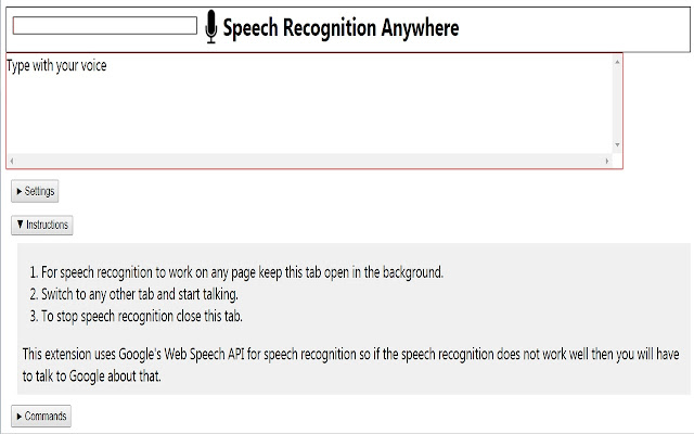 Speech Recognition Anywhere