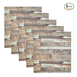 Set 5 x Placa de tapet adeziv caramizi, Stone Bricks 2, 77x70 cm