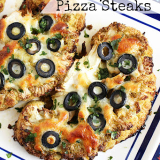 Roasted Cauliflower Pizza Steaks
