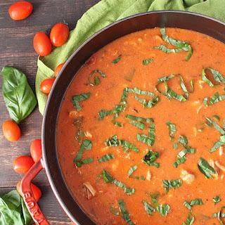 Paleo Creamy Chicken Tomato Soup.