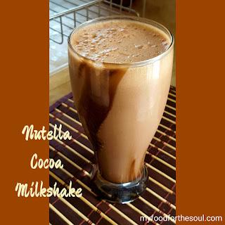 Nutella Cocoa Milkshake.
