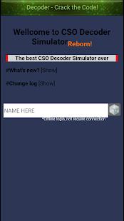 CSO Decoder Simulator : Reborn - náhled