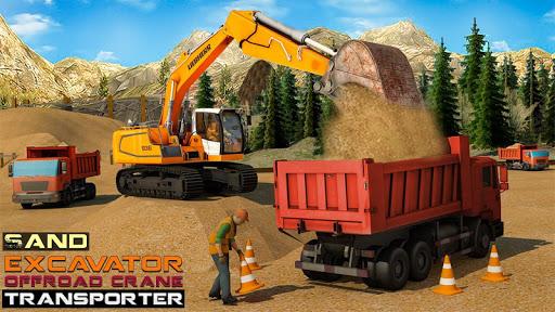 Sand Excavator Offroad Crane Transporter android2mod screenshots 1