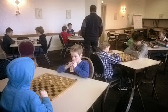 Photo: Jeugdtoernooi Damclub IJmuiden. Zondag 11 januari 2015