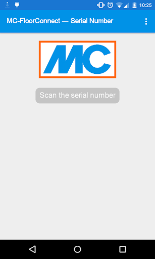 MC-FloorConnect Serial Number