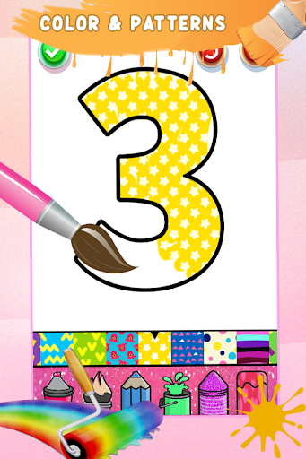 Glitter Number Coloring and Drawing Book For Kids 5.0 screenshots 12