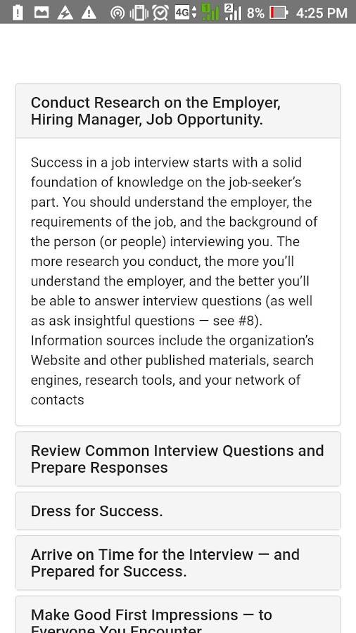 interview biodata