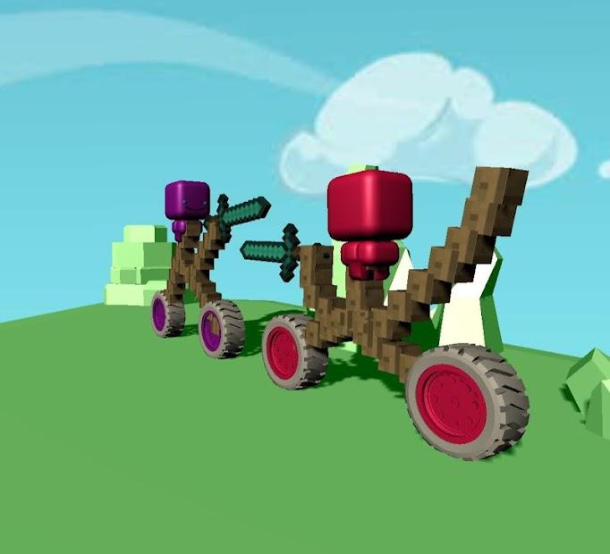 Craft car builder fighting: Knight Joust!
